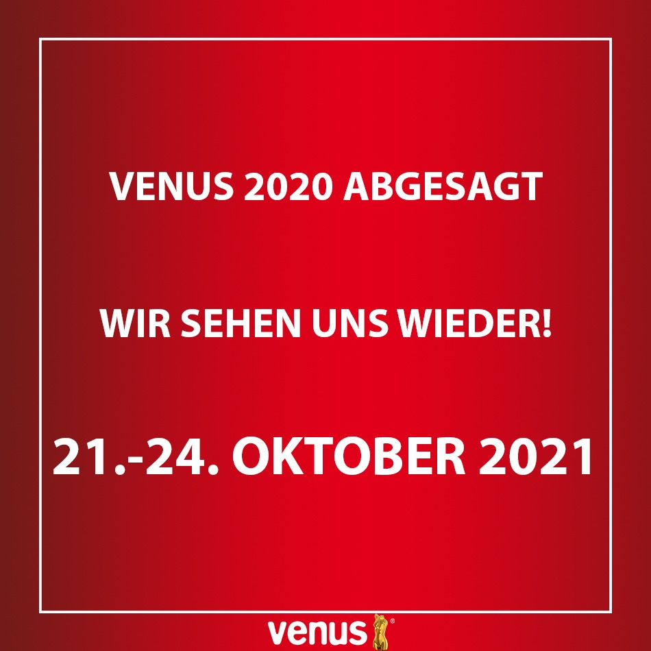 VENUS Erotikmesse 2020 findet nicht statt